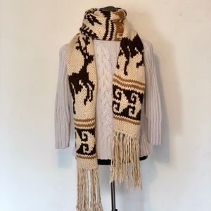 J.Crew Hand-knitted Scarf with Tassels